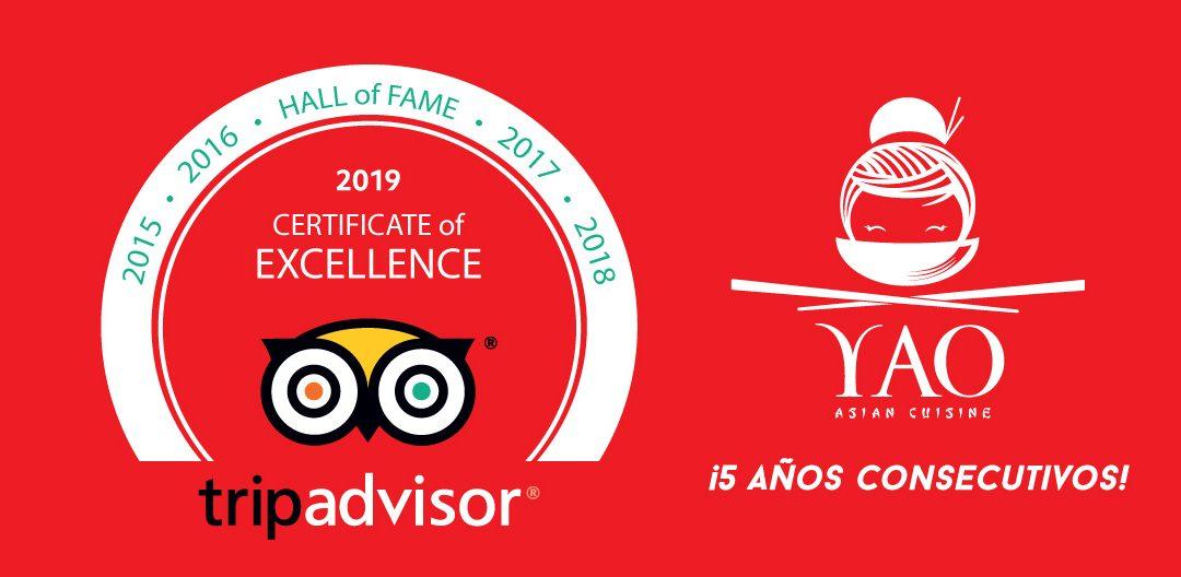 TripAdvisor certifica a Yao en su Hall Of Fame