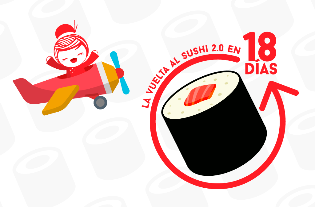 Del 3 al 18 de Junio le damos La Vuelta Al Sushi versión 2.0